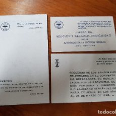 Coleccionismo Papel Varios: ANTIGUAS ESTAMPAS RELIGIOSAS FRANQUISMO FALANGE ESPAÑOLA MURCIA AÑOS 40. Lote 118487519