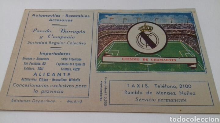 Calendario Futbol Primera Division.Calendario De La Liga De Futbol Primera Division 1954 1955 Estadio De Chamartin