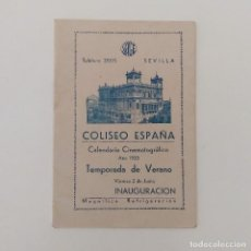 Outros artigos de papel: CALENDARIO CINEMATOGRÁFICO PROGRAMACIÓN COLISEO ESPAÑA SEVILLA 1933. TEMPORADA DE VERANO 12 X 8,5CM. Lote 118556371