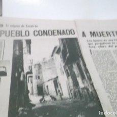 Coleccionismo Papel Varios: REPORTAJE AÑOS 50/60 - ESCATRÓN (ZARAGOZA) UN PUEBLO CONDENADO A MUERTE. Lote 118734687