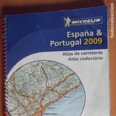 Coleccionismo Papel Varios: MICHELIN-ATLAS DE CARRETERAS-ESPAÑA&PORTUGAL 2009-234 PAGINAS-290X220MM. Lote 118768947