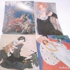 Coleccionismo Papel Varios: LOTE DE 4 LAMINAS DE PINTURA 15.X 19. Lote 118857635