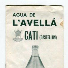 Coleccionismo Papel Varios: CATÍ -CASTELLON- AGUA DE L'AVELLA FOLLETO PUBLICITARIO, CARACTERISTICAS, BREVE HISTORIA DE LA VILLA. Lote 118952427