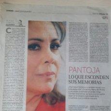 Coleccionismo Papel Varios: ISABEL PANTOJA (RECORTES DE PRENSA). Lote 119119063