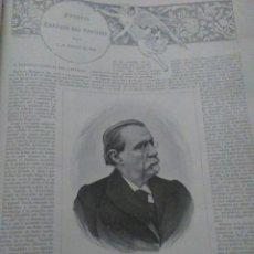 Coleccionismo Papel Varios: ANTONIO CANOVAS DEL CASTILLO 1897 ARTICULO COMPLETO 1 PAGINA . Lote 119350059