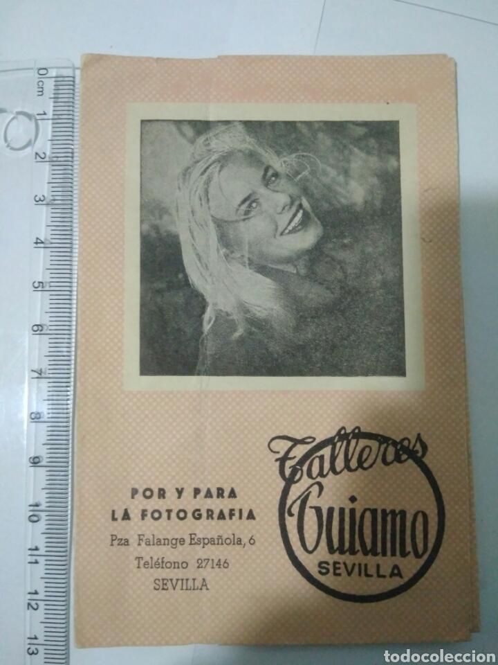 TALLERES GUIAMO SEVILLA PUBLICIDAD GEVAERT GUARDA FOTO (Coleccionismo en Papel - Varios)