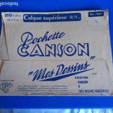 Coleccionismo Papel Varios: ANTIGUO CALCO PAPEL VEGETAL - POCHETTE CANSON - 12 HOJAS. Lote 119605195