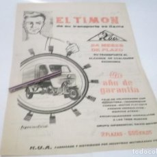 Coleccionismo Papel Varios: RECORTE PUBLICIDAD AÑOS 50/60 - MOTO ROA. Lote 119818819