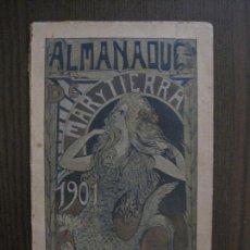 Coleccionismo Papel Varios: MAR Y TIERRA - ALMANAQUE AÑO 1901 -VER FOTOS-(V-14.391). Lote 119880995