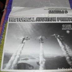 Coleccionismo Papel Varios: HISTORICAL AVIATION PRINTS - 6 FOTOS AVIONES COLECCION -. Lote 119887119