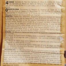 Coleccionismo Papel Varios: RECORTE PRENSA MEMORABLE PARTIDO FUTBOL CADIZ CF 4 - FC BARCELONA 0. DIARIO DE CÁDIZ 1991. Lote 120055803