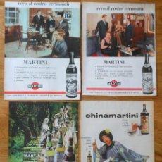 Coleccionismo Papel Varios: MARTINI 4X VINTAGE ADS 1950S/60S PROMO ADVERT ADVERTISING DRINK POSTER ANUNCIOS PUBLICIDAD. Lote 120071391
