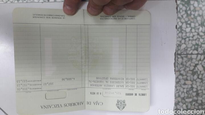 Coleccionismo Papel Varios: libreta caja ahorros vizcaina 1977 envio incluido - Foto 2 - 120217942
