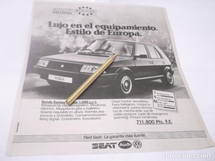RECORTE PUBLICIDAD AÑOS 80/90 - SEAT RONDA (Coleccionismo en Papel - Varios)