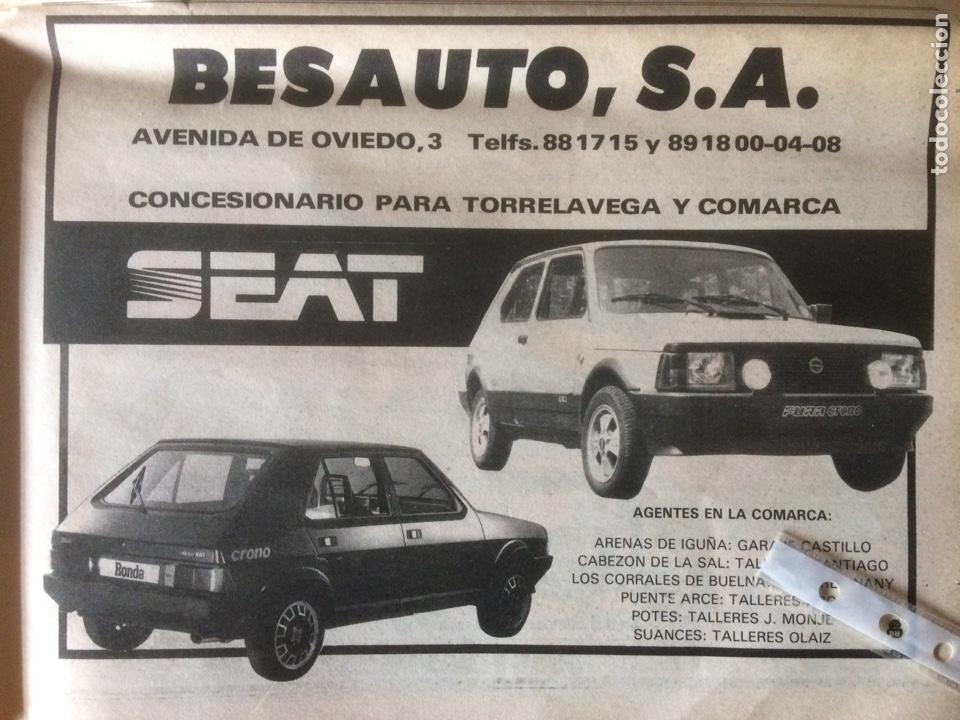 PUBLICIDAD AUTOMÓVIL SEAT DE 1982 TORRELAVEGA SEAT FURA CRONO RONDA CROMO (Coleccionismo en Papel - Varios)