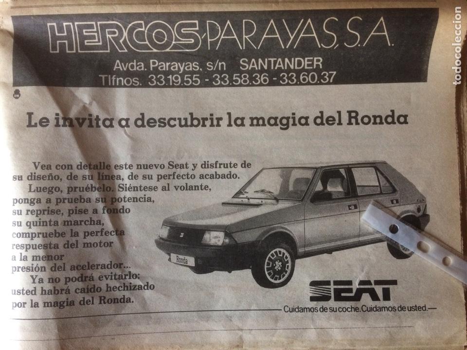 PUBLICIDAD AUTOMÓVIL SEAT RONDA DE 1982 SANTANDER (Coleccionismo en Papel - Varios)