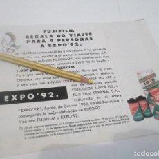 Coleccionismo Papel Varios: RECORTE PUBLICIDAD AÑOS 80/90 - EXPO-92 SEVILLA . Lote 120585107