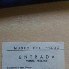 Coleccionismo Papel Varios: ANTIGUA ENTRADA MUSEO DEL PRADO.. Lote 120793047