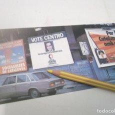 Coleccionismo Papel Varios: RECORTE AÑOS 60/70 - CALLE BARCELONA PUBLICIDAD CARTELES TRANSICIÓN POLITICA 1977 . SEAT 124 . Lote 120795015