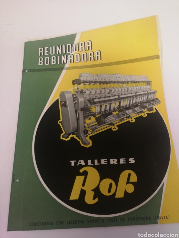 PUBLICIDAD TALLERES ROF AÑOS 60 (Coleccionismo en Papel - Varios)