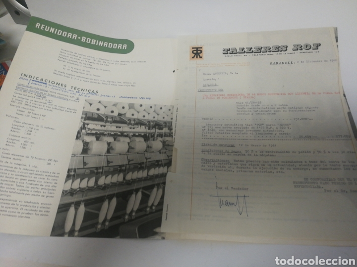 Coleccionismo Papel Varios: Publicidad talleres rof años 60 - Foto 2 - 120825634