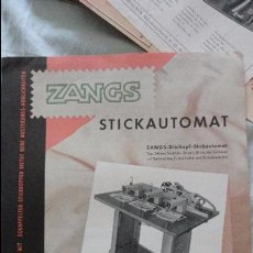 Coleccionismo Papel Varios: ANTIGUO FOLLETO PUBLICITARIO.MAQUINA COSER.ZANGS.STICKAUTOMAT.CMZ.ALEMANIA.. Lote 121051903