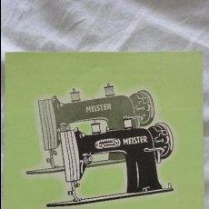 Coleccionismo Papel Varios: ANTIGUO FOLLETO PUBLICITARIO.MAQUINAS DE COSER.MEISTER-WERKE GMBH.SCHWEINFURT. Lote 121066299