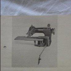 Coleccionismo Papel Varios: ANTIGUA HOJA PUBLICITARIA.MAQUINA DE COSER.LEWIS KLASSE 150. ALEMANIA. Lote 121067035