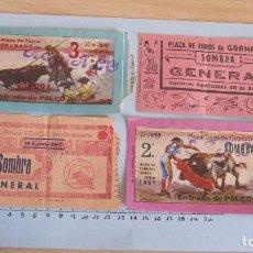 Coleccionismo Papel Varios: LOTE CUATRO ENTRADAS TAURINAS PLAZA TOROS GRANADA AÑOS 50. Lote 121232739