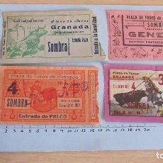 Coleccionismo Papel Varios: LOTE CUATRO ENTRADAS TAURINAS PLAZA DE TOROS DE GRANADA AÑOS 50. Lote 121233499