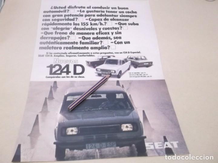 RECORTE PUBLICIDAD AÑOS 60 - SEAT 124 D (Coleccionismo en Papel - Varios)