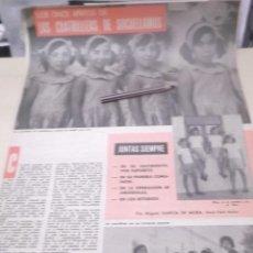 Coleccionismo Papel Varios: RECORTE AÑOS 60 - LAS CUATRILLIZAS DEL PUEBLO DE SOCUÉLLAMOS . CIUDAD REAL . Lote 121434291