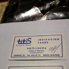 Coleccionismo Papel Varios: INVITACION SEÑORITA DISCO-BAR TITO'S - AÑOS 70-80. Lote 121472095