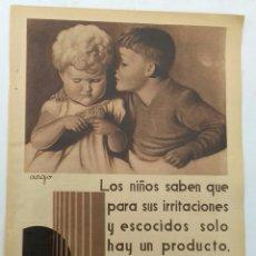 Coleccionismo Papel Varios: PUBLICIDAD. POLVOS CALBER 1935. Lote 121508064