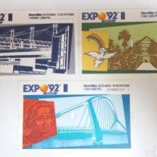 Coleccionismo Papel Varios: LOTE ENTRADAS EXPO92 SEVILLA. Lote 121726074