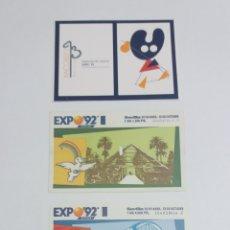 Coleccionismo Papel Varios: LOTE ENTRADAS EXPO 92 SEVILLA. Lote 121789792