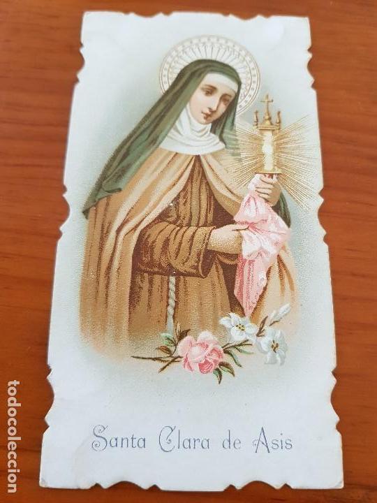 Antigua Estampa Religiosa Santa Clara De Asis Sold Through Direct