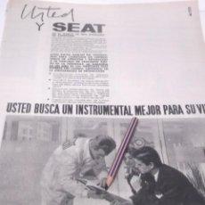Coleccionismo Papel Varios: RECORTE PUBLICIDAD AÑO 60 - SEAT . Lote 122061703