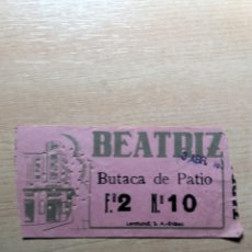Collectionnisme Papier divers: ENTRADA TEATRO BEATRIZ MADRID. AÑO 1951. Lote 122170727