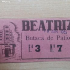 Collectionnisme Papier divers: ENTRADA TEATRO BEATRÍZ. AÑO 1952. MADRID.. Lote 122405807