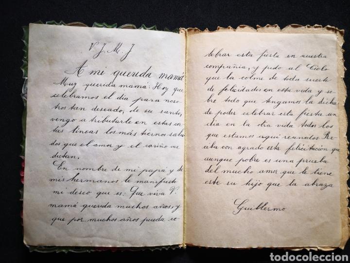 Coleccionismo Papel Varios: Tarjeta navideña campana relieve inscrita ppio s xx 12X16,5 cm - Foto 3 - 122629043