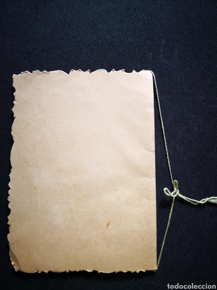 Coleccionismo Papel Varios: Tarjeta navideña campana relieve inscrita ppio s xx 12X16,5 cm - Foto 5 - 122629043