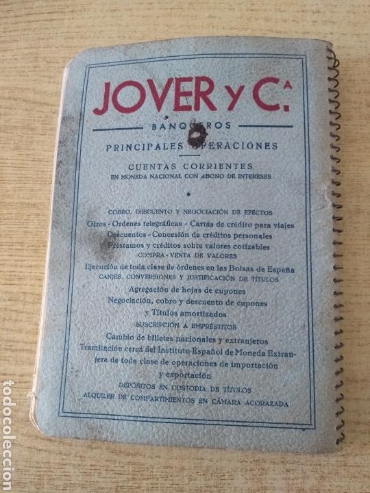 Coleccionismo Papel Varios: **ANTIGUA AGENDA, --JOVER I CIA (BANQUEROS) OPERACIONES DE BANCA Y BOLSA (1953)** - Foto 4 - 122682644