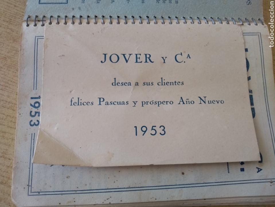Coleccionismo Papel Varios: **ANTIGUA AGENDA, --JOVER I CIA (BANQUEROS) OPERACIONES DE BANCA Y BOLSA (1953)** - Foto 5 - 122682644