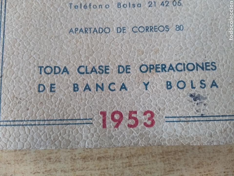 Coleccionismo Papel Varios: **ANTIGUA AGENDA, --JOVER I CIA (BANQUEROS) OPERACIONES DE BANCA Y BOLSA (1953)** - Foto 6 - 122682644