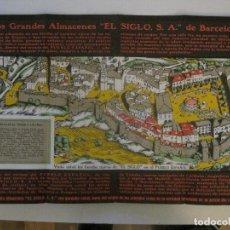 Coleccionismo Papel Varios: GRANDES ALMACENES EL SIGLO-EXPOSICION INTERNACIONAL 1929-DESPLEGABLE PUBLICIDAD-VER FOTOS-(V-14.742). Lote 122817911