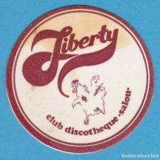Coleccionismo Papel Varios: LIBERTY CLUB DISCOTHEQUE. POSAVASOS. SALOU. Lote 123514611
