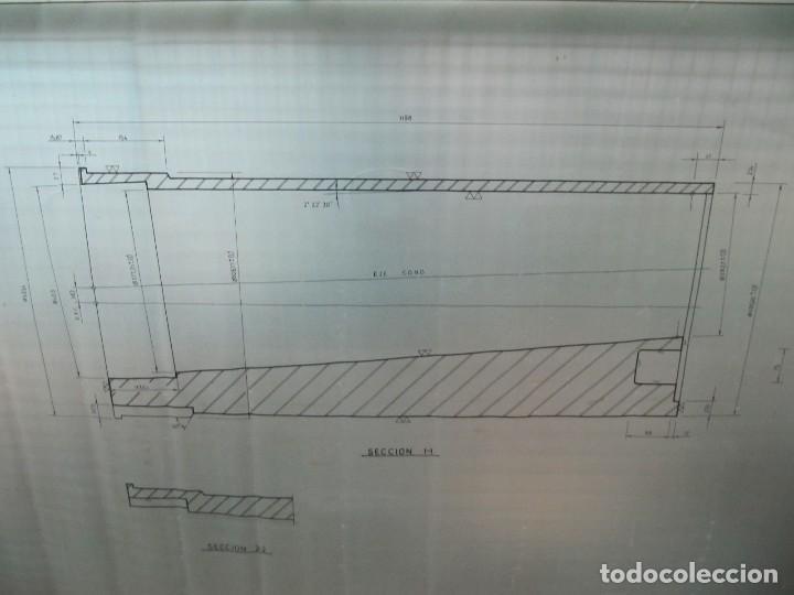 Coleccionismo Papel Varios: Antiguo plano de mina dibujado sobre papel vegetal. Compañía española de minas de Tharsis - Foto 3 - 124238483