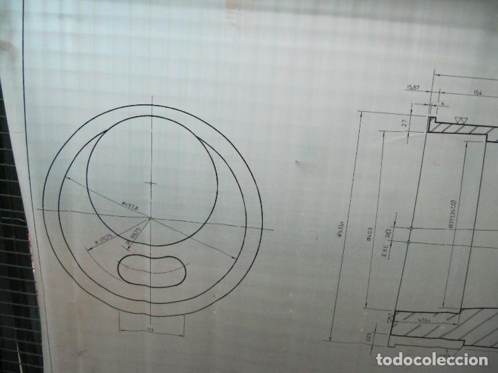 Coleccionismo Papel Varios: Antiguo plano de mina dibujado sobre papel vegetal. Compañía española de minas de Tharsis - Foto 4 - 124238483
