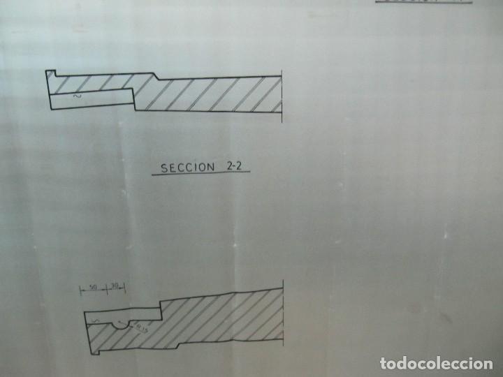 Coleccionismo Papel Varios: Antiguo plano de mina dibujado sobre papel vegetal. Compañía española de minas de Tharsis - Foto 5 - 124238483